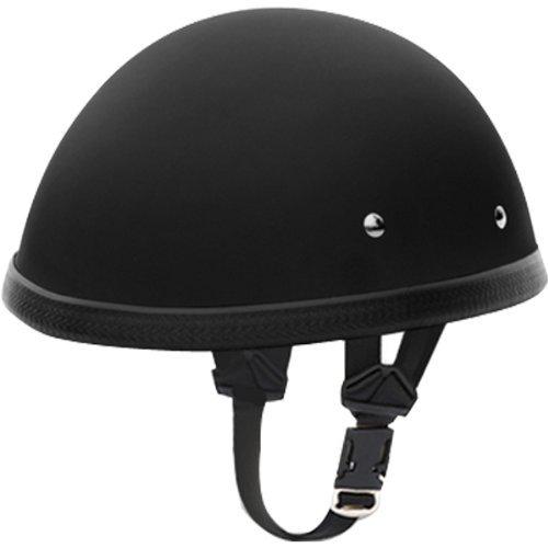 Daytona E Z Rider Basic/Custom Novelty Touring Motorcycle Helmet - Dull Black / Large (Novelty Helmet Rider)