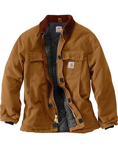 Carhartt Men's Arctic Quilt Lined Duck Traditional Coat C003,Brown,Large (For Rancher Coat Men)