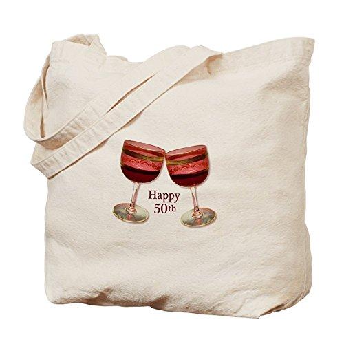 CafePress–Bicchieri da vino per 50esimo compleanno, Borsa di tela naturale, panno borsa per la spesa