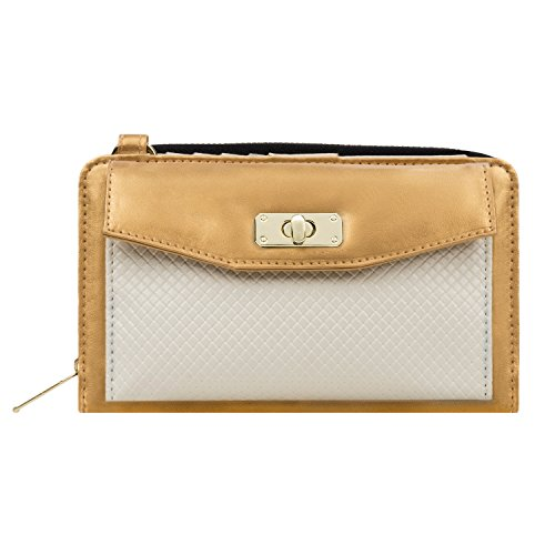Ringtones Lg Phone - Gold / White Ladies' Handbag for LG Phones