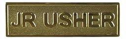 Swanson Christian Supply 080631 Jr Usher#44; Pin Back Rectangle Brass Badge