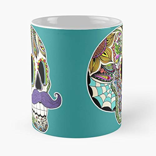 Mustache Moustache Skull With Movember - Coffee Mugs