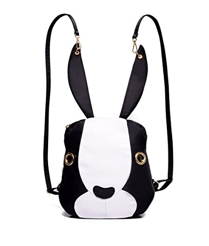 Rabbit Bag - Mojing Cute Bunny Backpack Purse for Girls,Cartoon Rabbit Schoolbag Daypack(white)