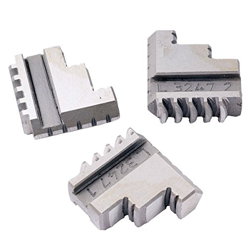 HHIP 3900-4742 3 Piece Steel Internal Hard Jaw Set for 4'' 3-Jaw K11 100 Lathe Chuck by HHIP