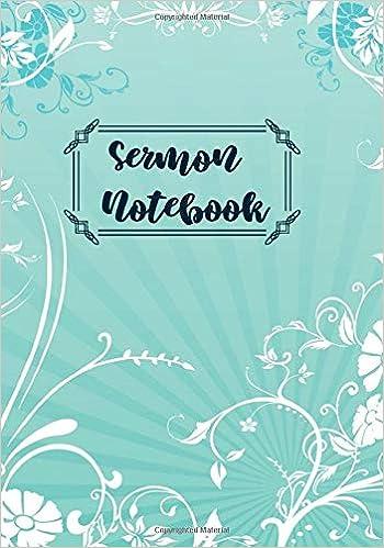 Sermon Notebook: Sermon Notes Personal Organiser Organizer