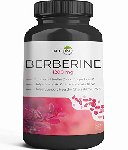 Berberine HCI 1200mg - 60 Capsules Maximum Strength HCI - Powerfully Supports Glucose Metabolism - Immune System - Fat Burn - Cardiovascular - Gastrointestinal Function - Non-GMO - Made in USA