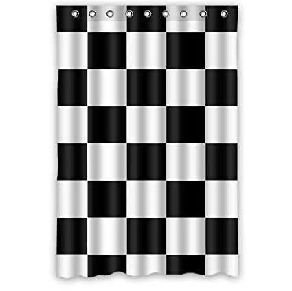 Amazoncom Zhanzzk Black White Checkered Pattern Waterproof