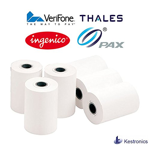 57mm Thermal Receipt Paper - Works with all Chip and pin devices including VeriFone , ingenico , pax , thales & more Kestronics