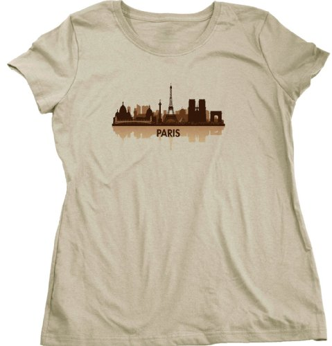 Paris, France City Skyline Ladies Cut T-shirt French Civic Pride Tee