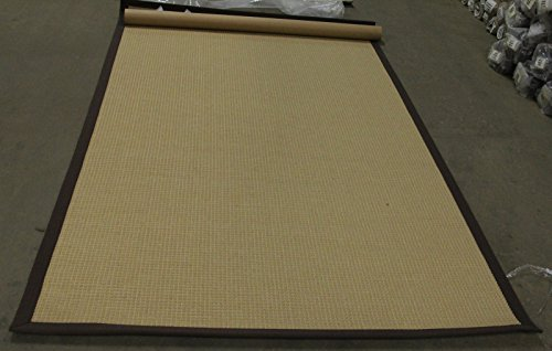Grace Bay Seaside Villa - 8 x 10 Wool Sisal Blend Color Gold Cocoa