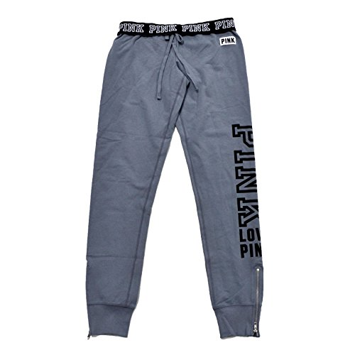 Victoria's Secret Pink Sweatpant Gym Pants (Large, Gray)