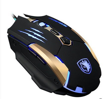 SADES Q6 USB Optical Gaming Mouse for Pc/Mac (Black)