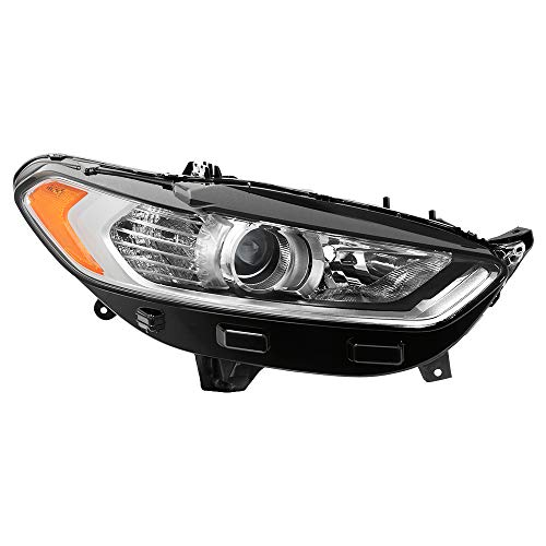 Carpart4u for 2013-15 Fusion Passenger Side Halogen Projector Headlight - OE Right ()