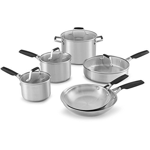 Select by Calphalon Stainless Steel 10-piece Cookware Set (Sauce Select Stainless Steel Pot)