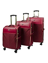 Guess 3 Piece Luggage Sets Melissa - Raspberry Red, One Size