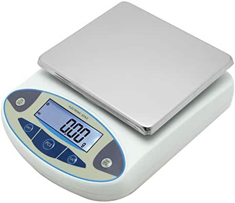 High Precision Lab Scale Digital Analytical Electronic Balance Laboratory Lab Precision Scale Jewelry Scales Kitchen Precision Weighing Electronic Scales 0.01g Calibrated & Ready to use (5000g, 0.01g)