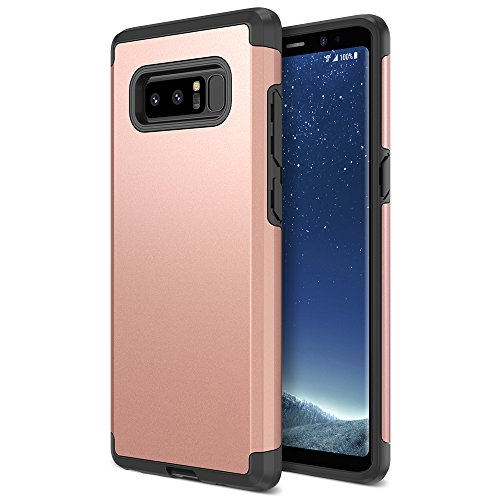 Note 8 Case, Trianium Protanium Galaxy Note 8 Case HEAVY DUTY Case with GXD Impact Gel (Rose Gold) EXTREME Protection Shock-Absorption Tri-Layer Reinforced Protective Hard Cover