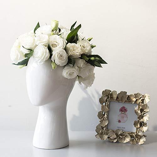 NAHASU | Vases | Human Head Porcelain vase Decorative Abstract Ceramic vase Dry Flower Arrangement Porcelain Artificial Flower Pot Wholesale