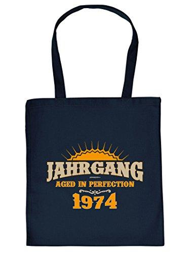 1974 Henkeltasche Beutel mit Aufdruck Tote Bag Tragetasche Must-have Stofftasche Geschenkidee Fun Einkaufstasche