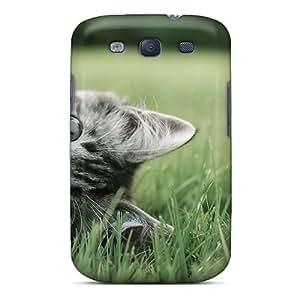 DGENDS Pretty Kitten Grass Animals Case Cover Galaxy S3 Series High Quality Case