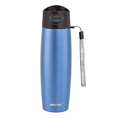 Travel Mug, BESTEK Insulated Stainless Steel Double Wall Vacuum Mug, 17oz - Blue