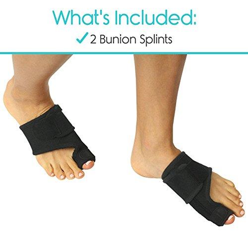 Adjustable Bunions Splints and Big Toe Bunions Corrector Brace Pads Toe Straighteners Separators Night Time Hallux Valgus Splints for Hammer Toe Bunions Pain Relief Relief