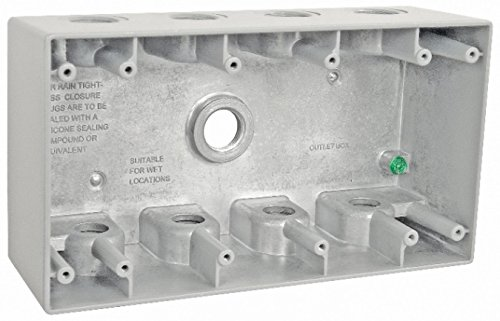 Four-Gang Weatherproof Box With 1/2 Inch Conduit Openings-1 per case