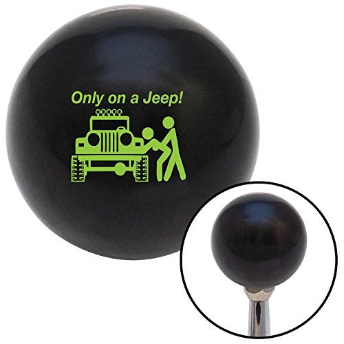 American Shifter 103773 Black Shift Knob with M16 x 1.5 Insert (Green Only On A Jeep)