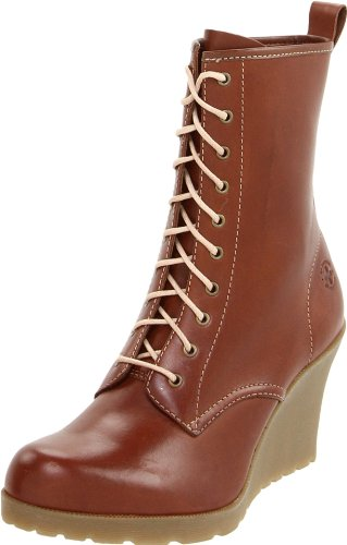 Dr. Martens Women's Marcie Wedge Boot, Brown, 7 M UK/9 M US