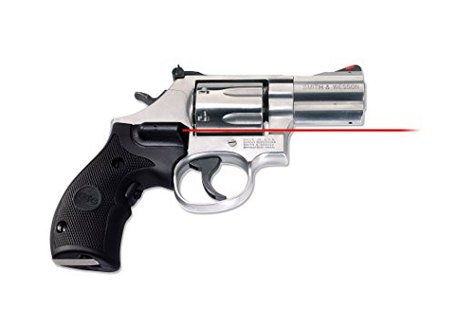 (Crimson Trace LG-306 Lasergrips Red Laser Sight Grips for Smith & Wesson K/L Frame (Round Butt) Revolvers - Rubber Overmold)