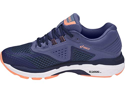 ASICS Women's GT-2000 6 Running Shoe, Indigo Blue/Indigo Blue/Smoke Blue, 7.5 N US
