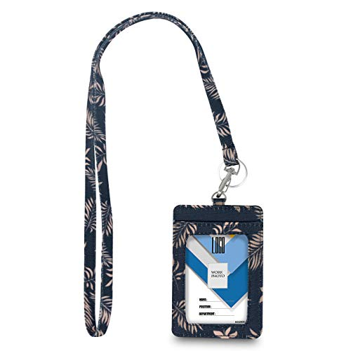 Limeloot Gold Palm Lanyard with ID Badge Holder and Key Ring