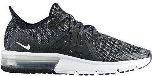 Nike Kvinders Air Max Gende 3 Løbesko Sort / Hvid-mørkegrå ROGIVl