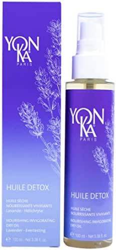 YON-KA - HUILE DETOX - Invigorating and Purifying Dry Oil Enriched With Resin From the Pistacia Lentiscus Tree, Sunflower, Sesame, and Baobab (3.3 Ounces / 100 Milliliters)