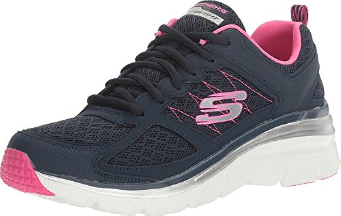 Skechers Women's Fashion Fit Not Afraid Sneaker,Black,US 8.5 M