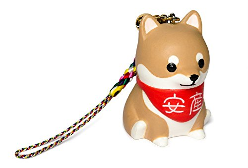 """Shiba Inu [PetLovers] Lucky charm amulet for safe delivery cell phone strap charm in Japanese TV drama """"Kounodori"""" logo BOX TB-1001 from PetLovers"""