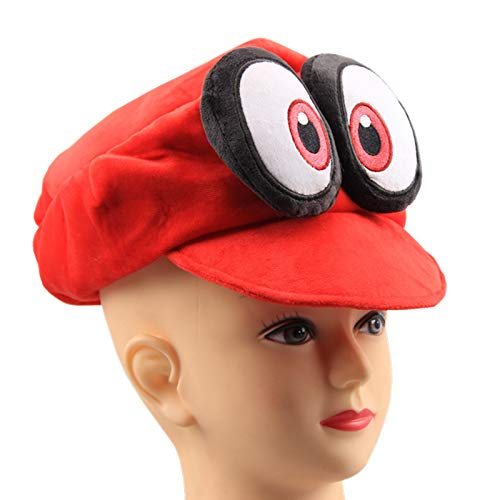UiUoU Super Mario Odyssey Cappy Hat Cosplay Red Plush