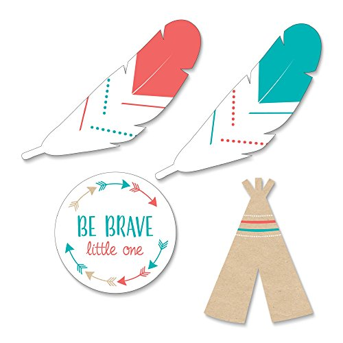 (Big Dot of Happiness Be Brave Little One - DIY Shaped Boho Tribal Baby Shower or Birthday Party Cut-Outs - 24)