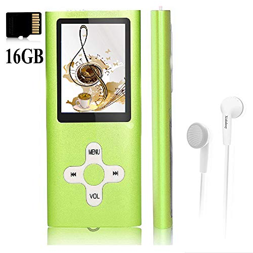 Mp3 Player,Music Player with a 16 GB Memory Card Portable Digital Music Player/Video/Voice Record/FM Radio/E-Book Reader/Photo Viewer/1.8 LCD ¡