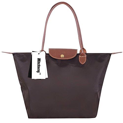 Women amp; Purse Colours Fashion Shopping 3 Tote Beach Designed Sizes Wocharm Coffee Handbags Folding Travel 17 Bag Tote Bag Nylon Casual In AUwdnq
