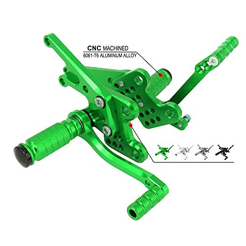 Motorcycle Rearsets Adjustable Foot Pegs Footrests Rear Set For Kawasaki ZX-14 ZX14 ZX-14R ZX14R ZZR1400 2006-2011 - CNC ()