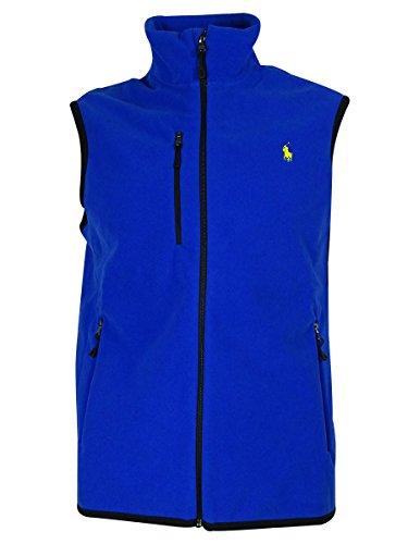 Polo Ralph Lauren Men's Micro Fleece Zipper Vest (XXL, Pacific (Blue Micro Performance Fleece)