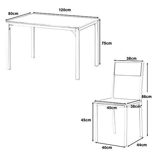 Matbordsset i trä med fyra stolar moderna matsalsmöbler för kontor lounge matsal kök