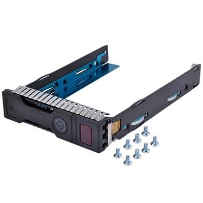 "3.5"" SAS SATA Drive Tray for HP 651314-001 651320-001 Proliant Gen8 Servers BL420c BL460c BL465c BL660c WS460c Gen8 Blade Workstation HP ProLiant DL Servers DL160 DL320e DL360e DL360p DL380e DL380p DL385p DL560 HP ProLiant ML Servers ML310e ML350e ML350p"