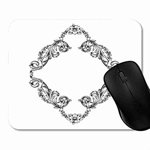 Gaming Pad Acanthus Classical Baroque of Vintage Design Filigree Calligraphy You for Wedding and Laser Cutting Mat with Rubber Base,Optimized Accuracy and Control for Computer 1H1469