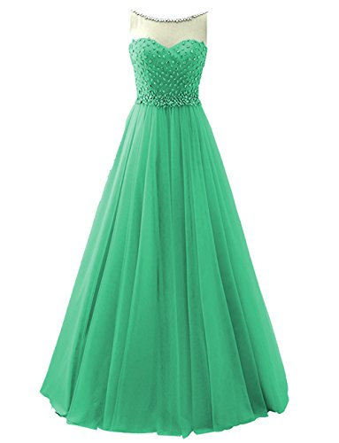Long Dresses Crystal Beaded line Bridal A Dress Evening Annies Scoop Tulle Prom A3 EnqwXnYOC