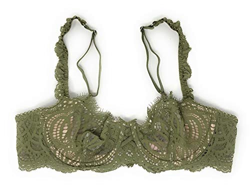 (Victoria's Secret Dream Angels Wicked Unlined Uplift Bra Olive Green 32C)