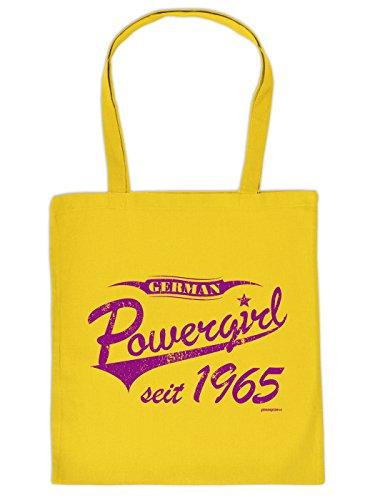 Coole Baumwolltasche zum 50. Geburtstag: POWERGIRL SEIT 1965 ! Super Geschenk Idee von Goodman Design