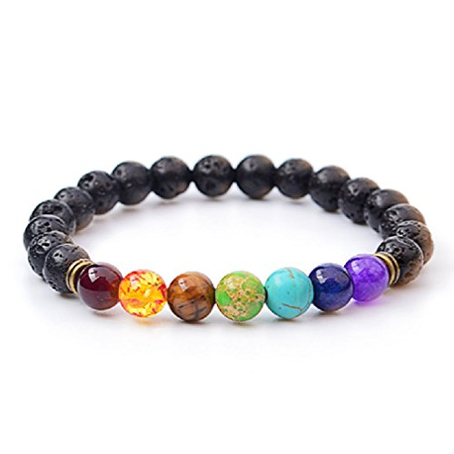 Letter Chakra Stone Diffuser Bracelet product image