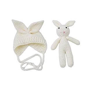 Rurah Newborn Photography Props Rabbit Hat ,Baby Photo Shoot Accessories
